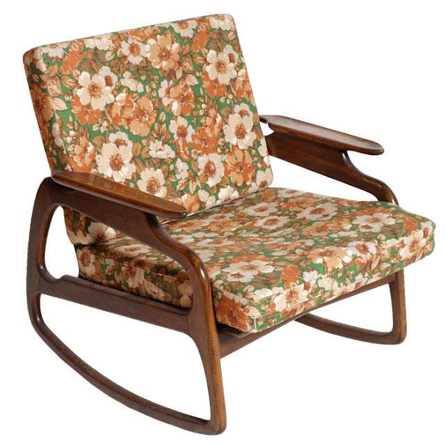 Mobili art deco atelier myartistic poltrona sedia dondolo design vintage art deco rocking chair - Sedia a dondolo design ...