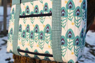My Fabric Designs' custom printed fabric in Peacock Plumes