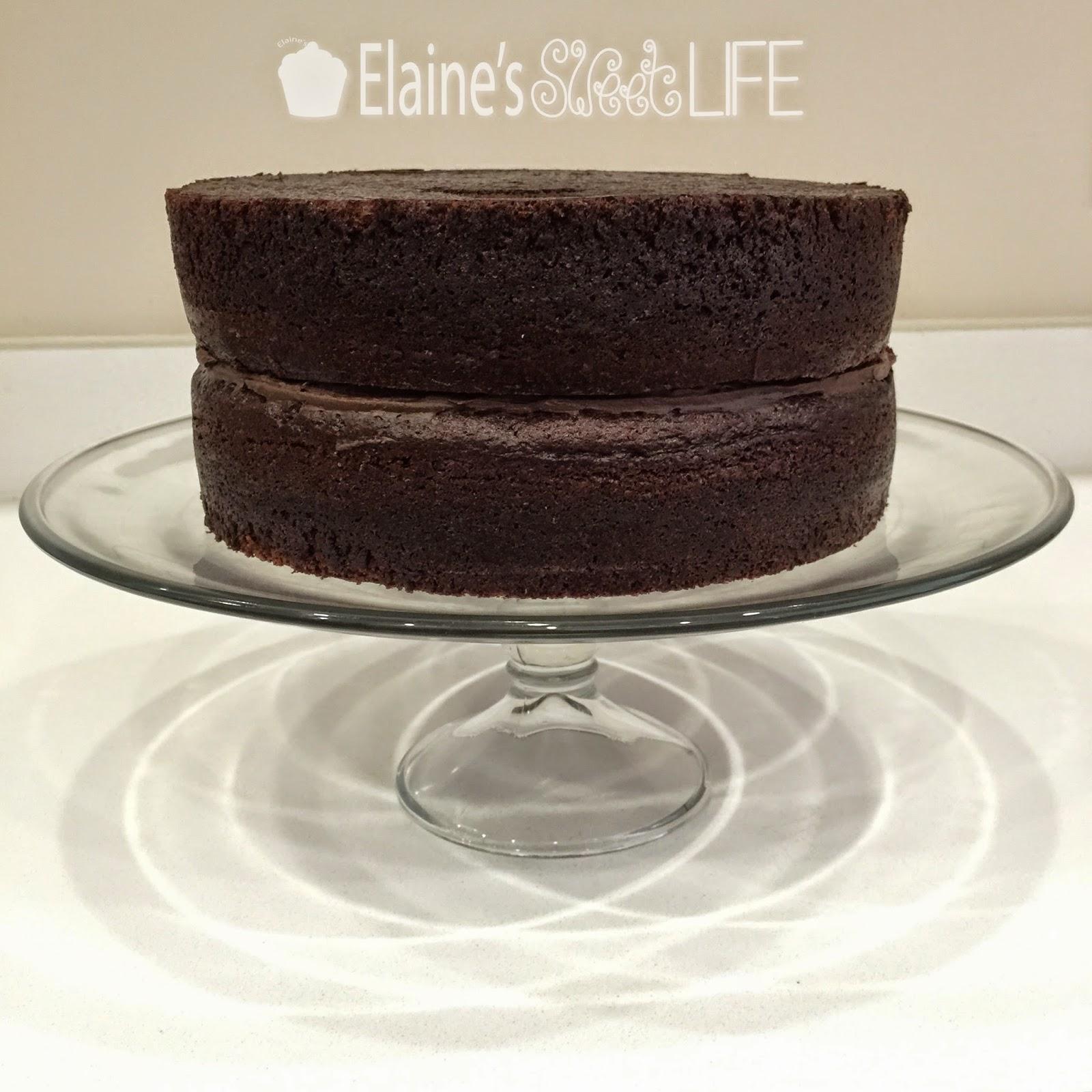 Elaine S Sweet Life Rich Dark Chocolate Cake