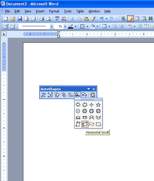 how to draw shapes in word 2003