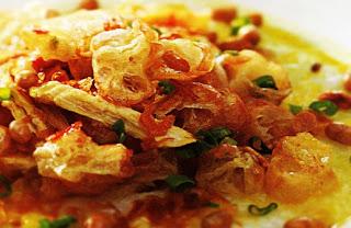 cara membuat resep bubur ayam kuah soto super enak yang sedikit berbeda dari bubur ayam lain