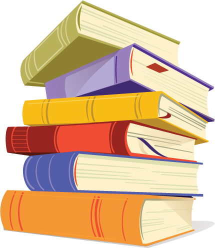 Books Cartoon Png Book Stack Free Png File to
