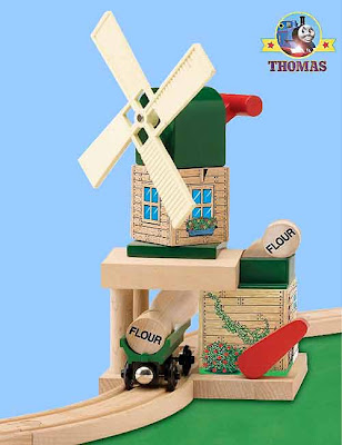 Tiny children and toddler toy Learning Curve Thomas and Friends Wooden Railway Toby's Windmill set