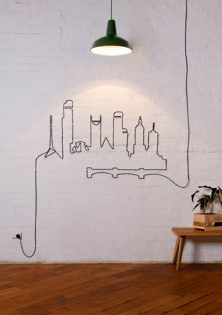 decoracao-fio-parede-candeeiro-lampada