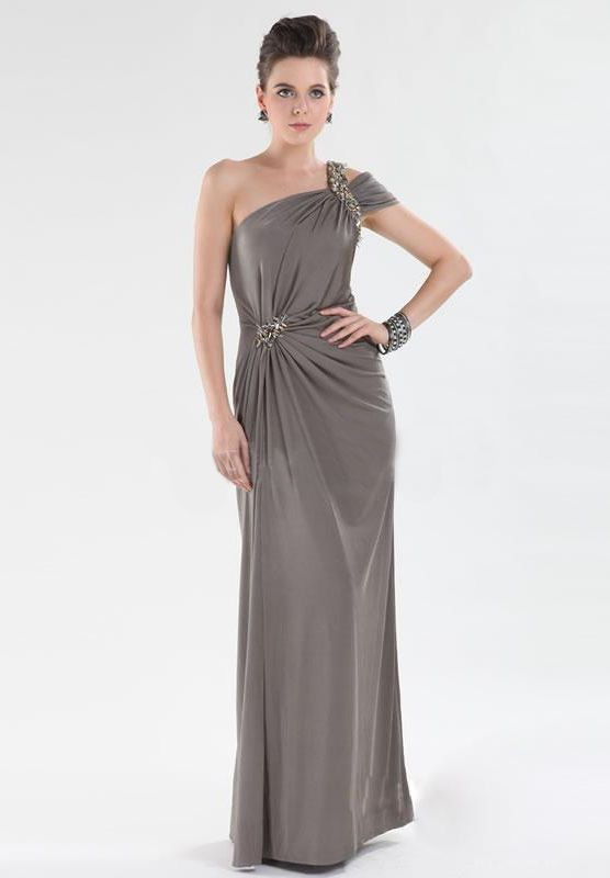 One-Shoulder Mother of the Bride Dress