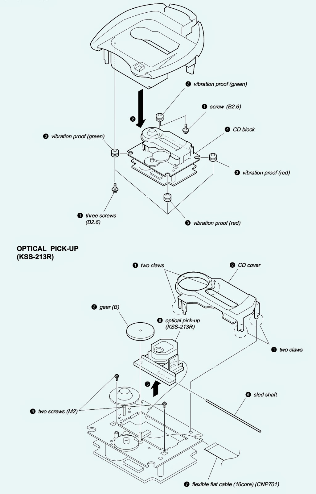 sony icf-cd843v - how to disassemble