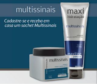 Receba Amostra Grátis Multissinais da Linha Maxi Hidratação