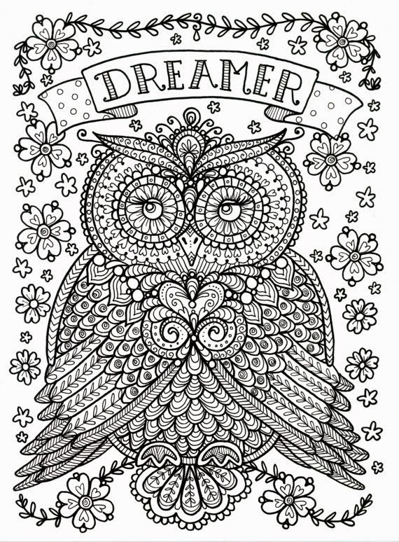 Stress Coloring Pages Animals : Free coloring pages of anti stress animal