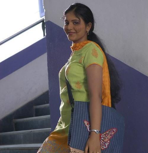 Sexy Indian long hair girl working as software professional.
