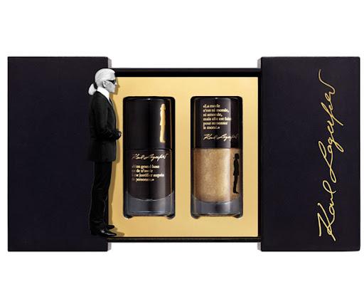 златен и черен лак за нокти от Карл Лагерфелд коледна колекция 2011