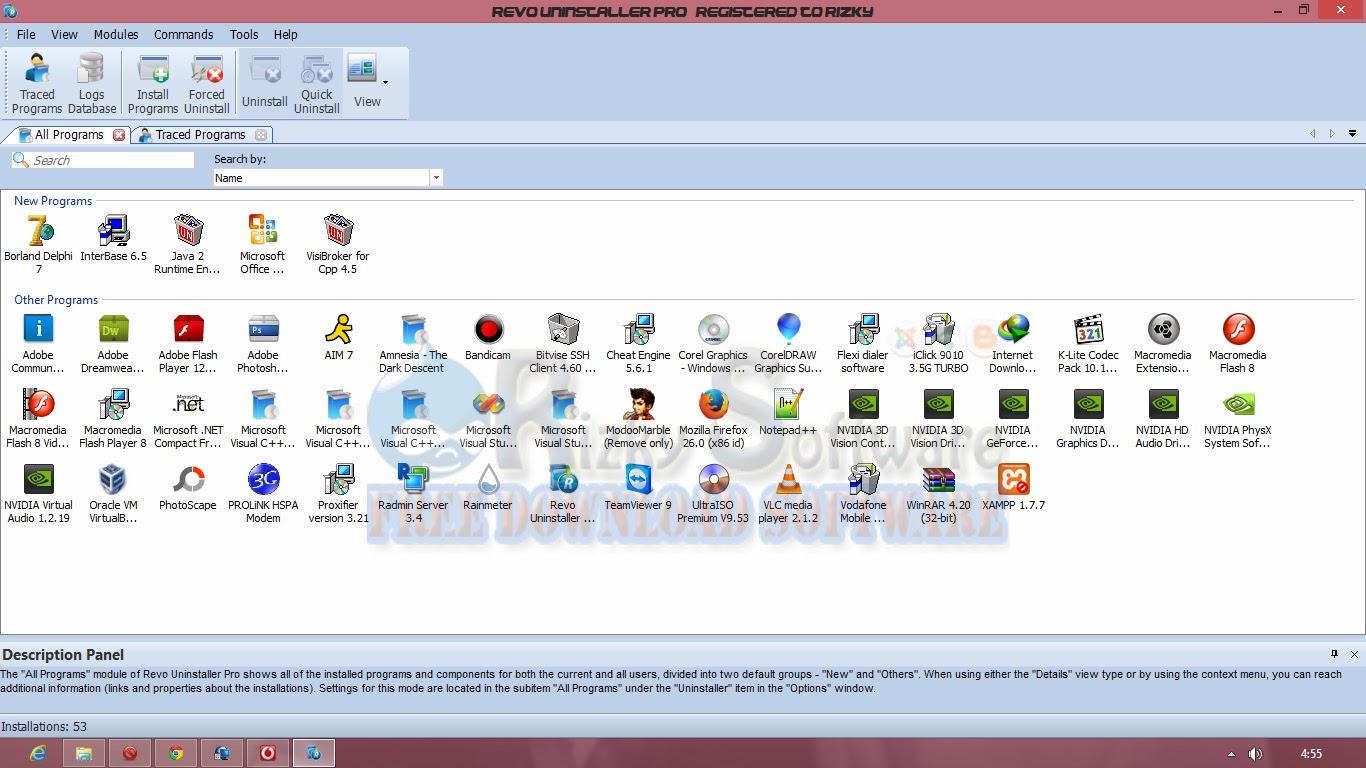 Download Revo Uninstaller 3.0.7 Pro Full Version