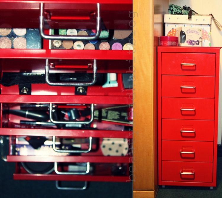 I put it together pretty quickly and was amazed by how well I managed my first flat pack build haha ) The helmer comes with six drawers and some little ... & How I Store my Make-up...The IKEA Helmer | Beautyu0027s Bad Habit