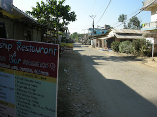 streets of Chitwan Nepal