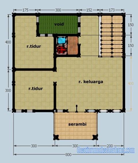 Desain Rumah Type 36 Lt 2