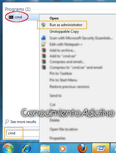 how to run cmd as admin