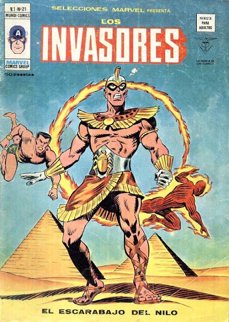 Portada de Los Invasores-Selecciones Marvel Volumen 1 Nº 21 Ediciones Vértice