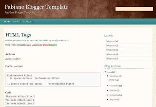 Fabiano Blogger Template