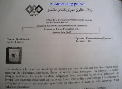 Examen de Fin de Formation Communication Qualification V 1