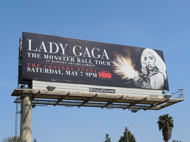 Lady Gaga Monster Ball Tour billboard