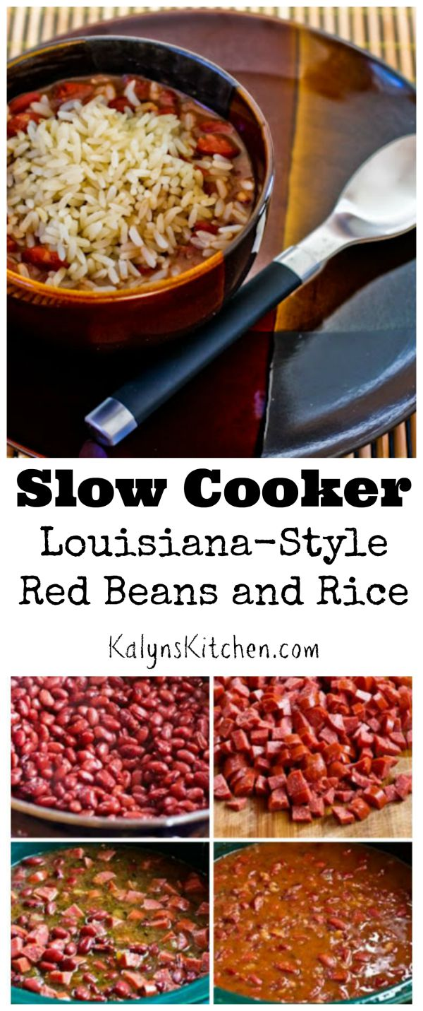 Slow Cooker Louisiana-Style Red Beans and Rice found on KalynsKitchen ...