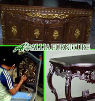 Proses Finishing Furniture Politur Emas Kombinasi