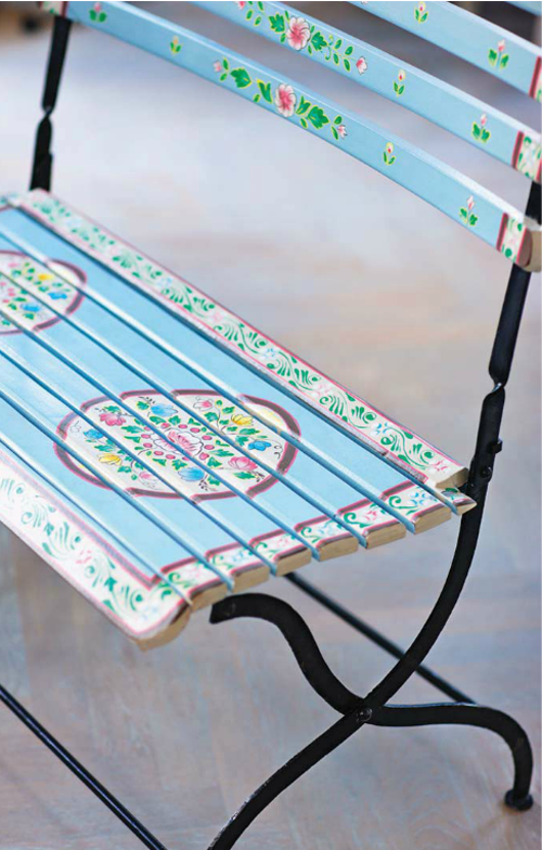 Painted+Outdoor+seat Lisbeth Dahl Spring Summer 2013