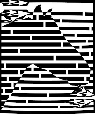 maze of horse black and white yanito freminoshi