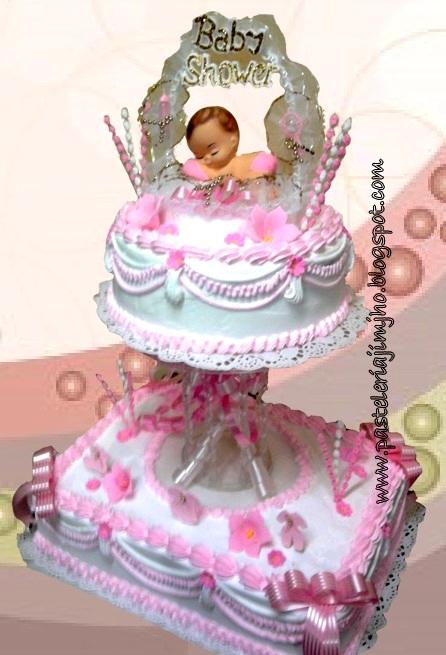Decoracion De Tortas Con Baño Wilton:Pasteles De Dos Pisos Para Baby Shower