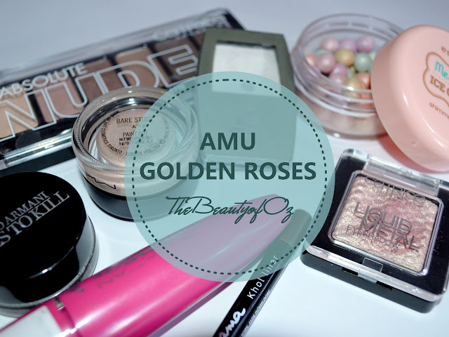 AMU zum Catrice Liquid Metal Eyeshadow Rose n' Gold