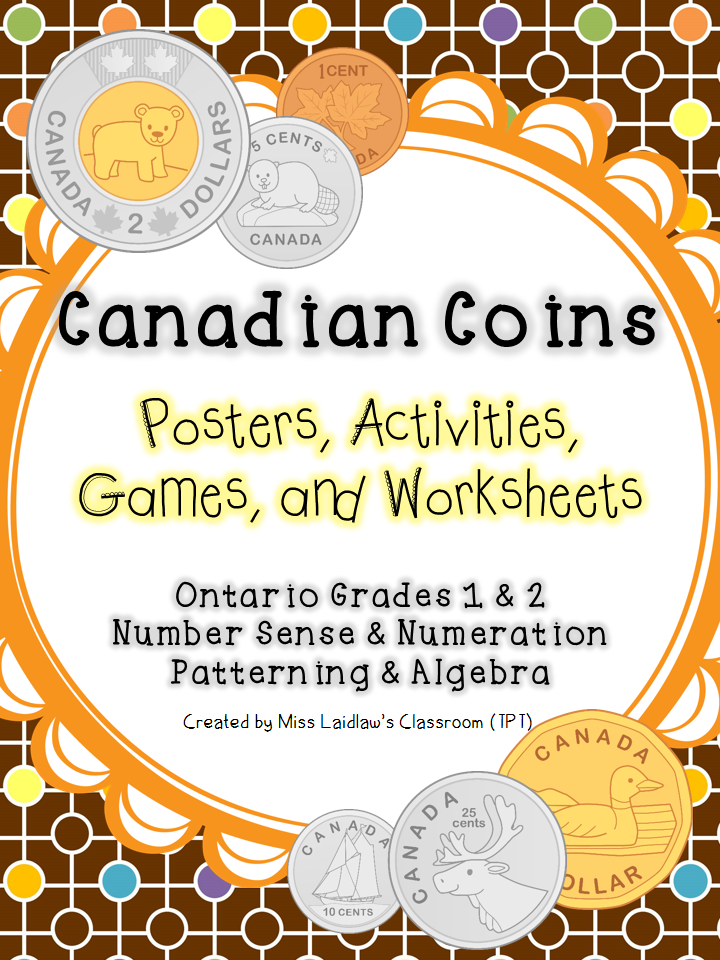 Canadian Money - by Miss Laidlaw's Classroom