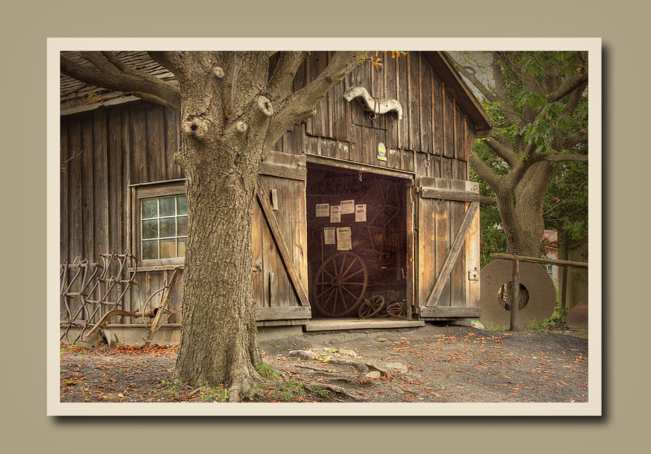 Entrance of the blacksmith's shop at Black Creek Pioneer Village.  Holly Cawfield Photography