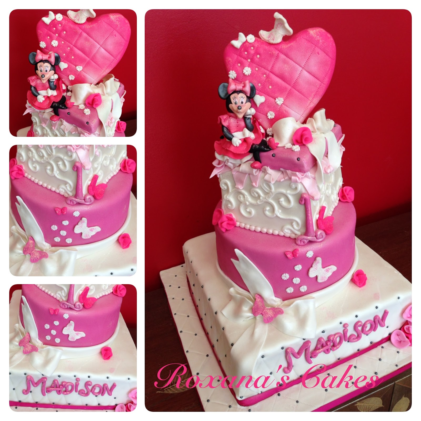 Baking With Roxanas Cakes 1st Minnie Mouse Themed Birthday Cake