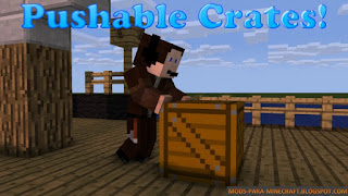 Pushable Crates Mod para Minecraft 1.7.10/1.8