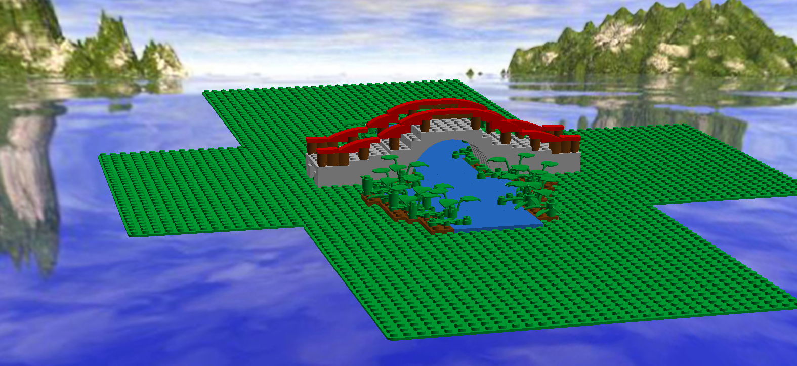 japanesebridgepng minecraft railroad designs rail bridge - Minecraft Japanese Bridge