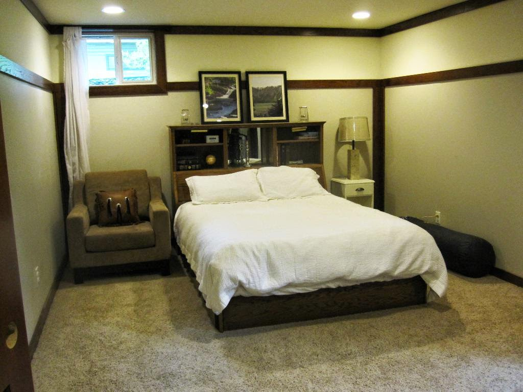 Bedroom in basement decorating ideas