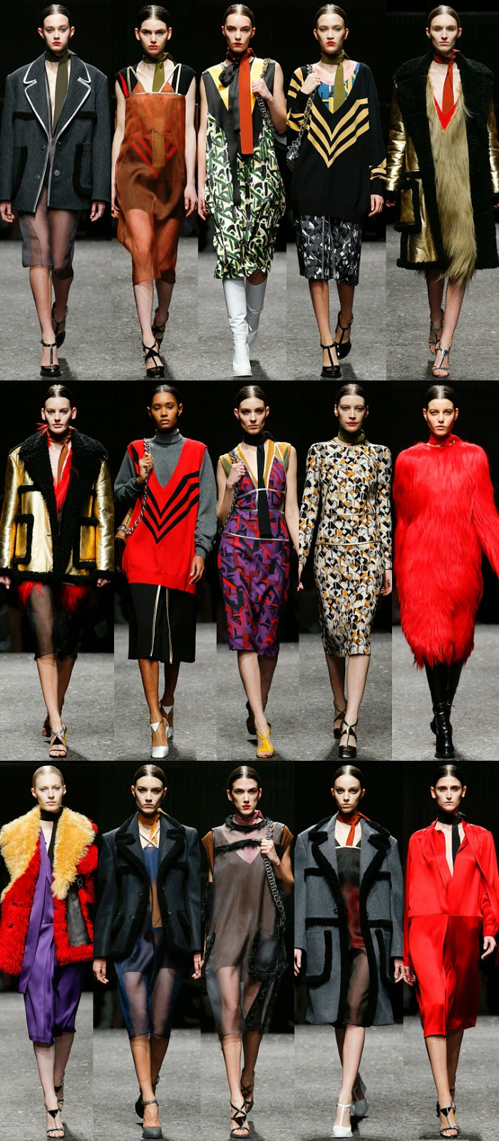 Prada fall winter 2014 runway collection, FW14, AW14, MFW, Milan fashion week, Miuccia Prada