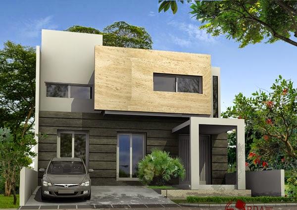 Desain Rumah Modern Sederhana Lantai 2