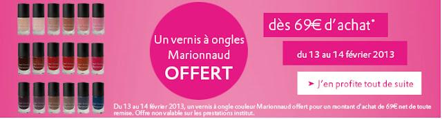 Marionnaud: Vernis offert dès 69€ + promos parfums