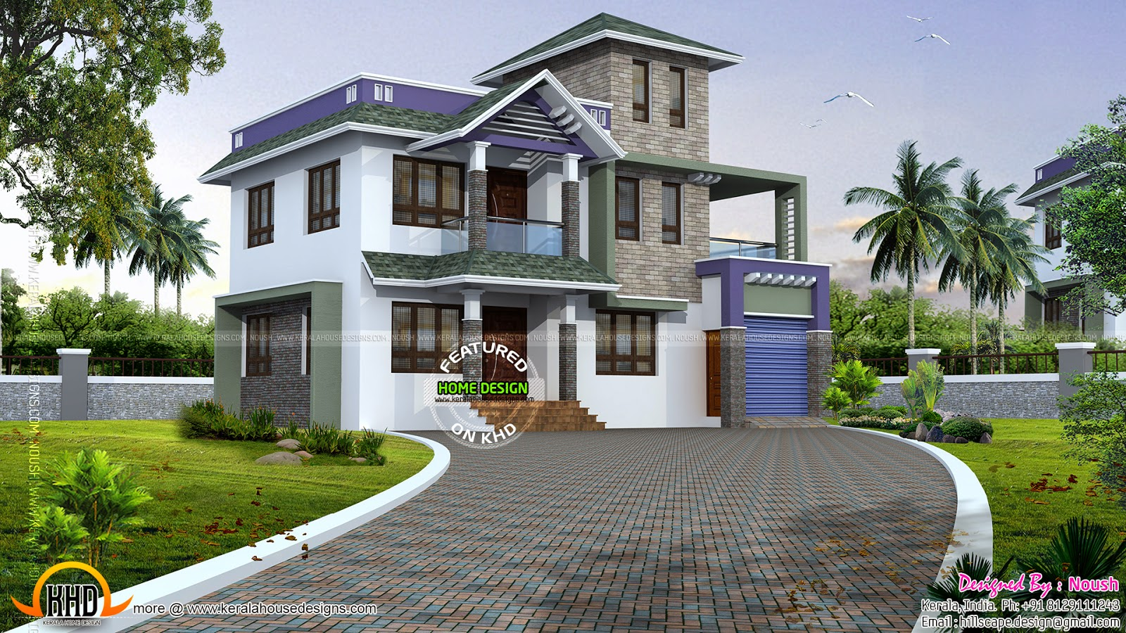 Beautiful villa floor plan kerala home design and floor for Beautiful villa design