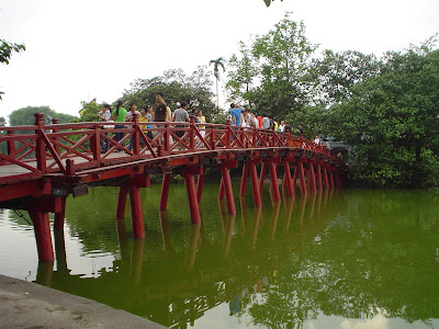 Red Bridge in Hanoi, Vietnam