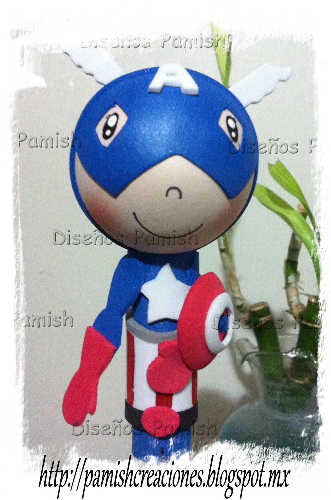 Diseños Pamish: Capitan America