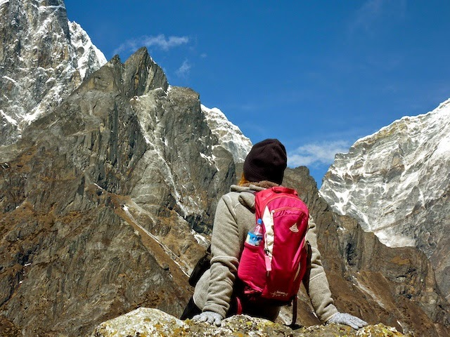 Enjoying the views on day 9 of the EBC Trek