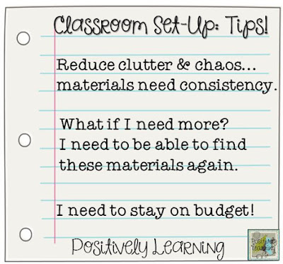 Positively Learning Classroom Set-Up