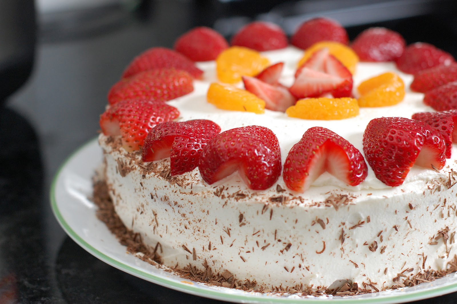 In Michelles Kitchen Strawberries And Cream Chinese BakeryStyle - Birthday cake chinese style