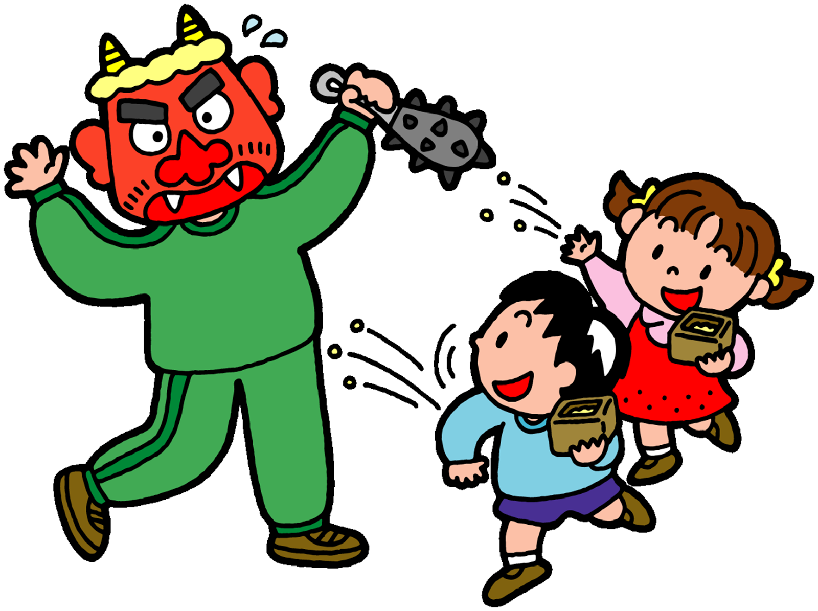 demons out  luck in  or japanese setsubun