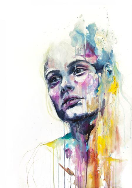 Silvia Pelissero agnes-cecile aquarelas belas mulheres manchadas