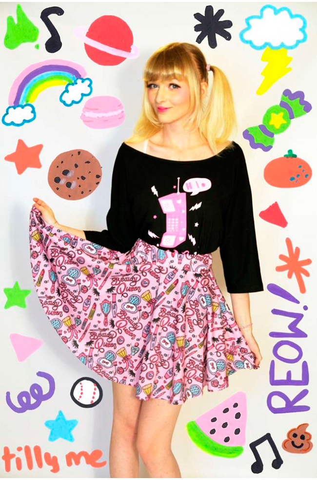 Tilly Me, cute prints, barbie