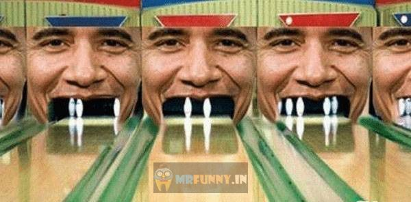 Bowling Alley Obama Funny Game