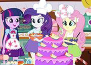 Equestria Girls Cooking Cake juego