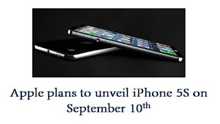 Apple likely to unveil iPhone 5S and low cost iPhone 5C on September 10th at an special event.